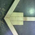 Fig. 4: Detailbeeld, kader met verstevigingsblok.